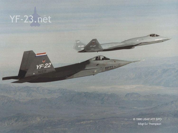 Lockheed YF-22 Northrop YF23 ATF Lockheed YF22 comparison