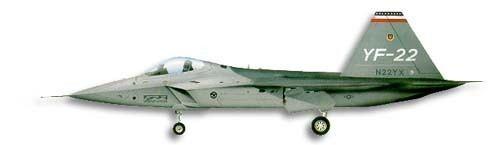 Lockheed YF-22 WINGS PALETTE Lockheed F22 Raptor USA