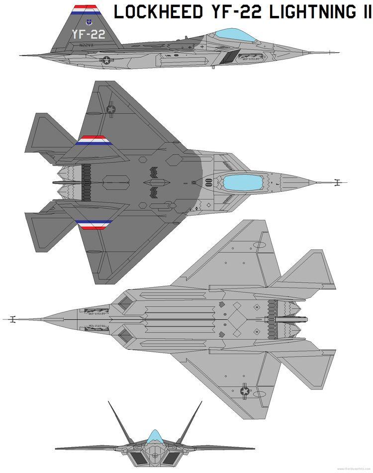 Lockheed YF-22 TheBlueprintscom Blueprints gt Modern airplanes gt Lockheed
