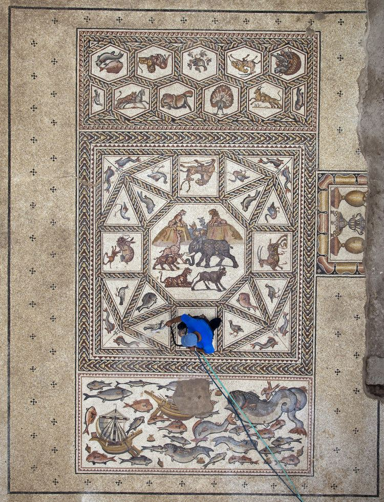 Lod Mosaic Archaeological Center The History Blog Blog Archive Second Lod mosaic found during