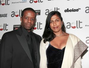 Lolita Chakrabarti Actor Adrian Lester and his wife actress Lolita Chakrabarti joined