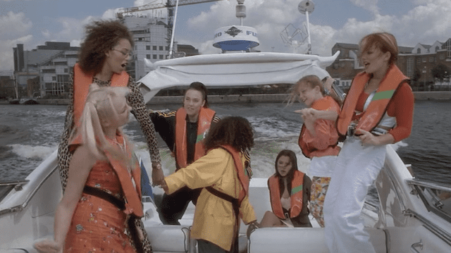 Lollipop (film) movie scenes In another rare moment where a Spice Girls song ISN T being played the girls take some young competition winners on a boat joy ride where they jump about