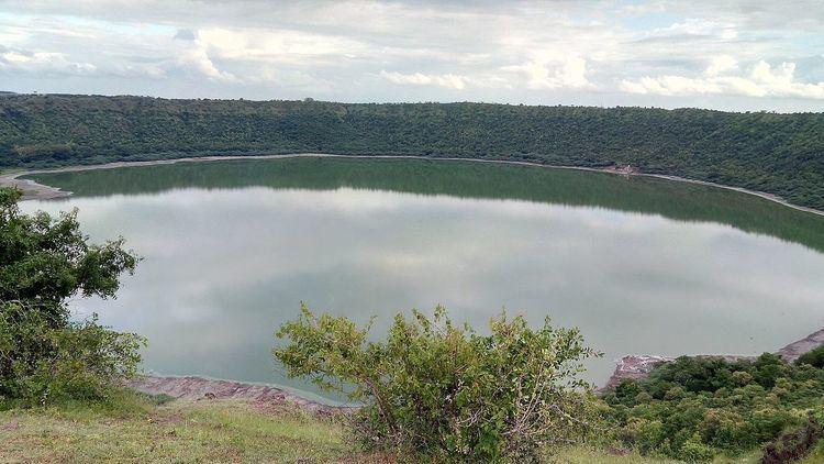Lonar crater lake Lonar crater lake