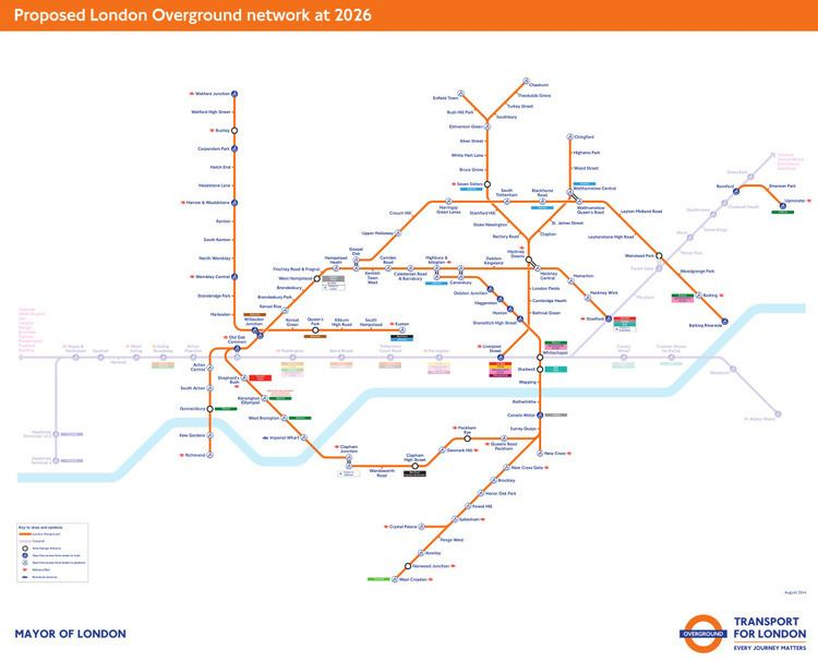 London Overground New London Overground Map includes the Barking Extension IanVisits