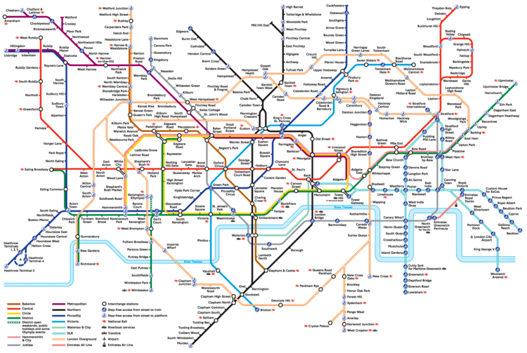 The Map of Northern London Underground Line