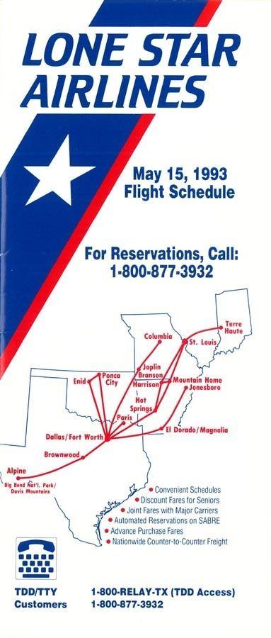 Lone Star Airlines wwwtimetableimagescomiaad9305ajpg