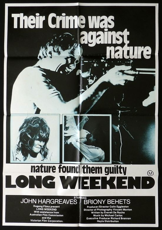 Long Weekend (1978 film) LONG WEEKEND 1978 Australian Cinema HARGREAVES Behets Australian One