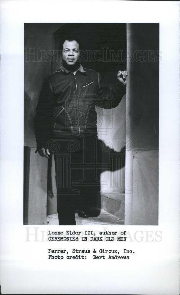Lonne Elder III 1989 Press Photo Lonne Elder III American actor Historic Images