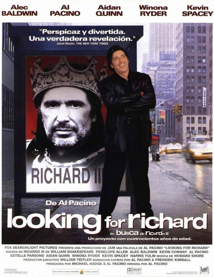 Looking for Richard Looking for Richard de Al Pacino 1996 Los 90 1996 Pinterest