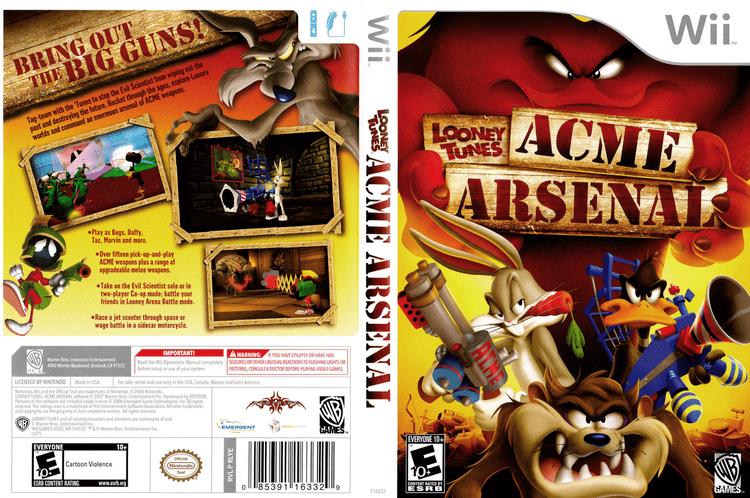 Looney Tunes: Acme Arsenal artgametdbcomwiicoverfullHQUSRLYEWRpng