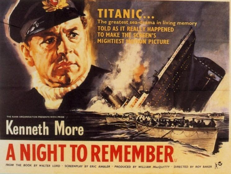 Loose Loot movie scenes A Night to Remember The Rank Organization 1958 is a highly faithful film adaption of Walter Lord s 1955 best selling book Because the book was so well