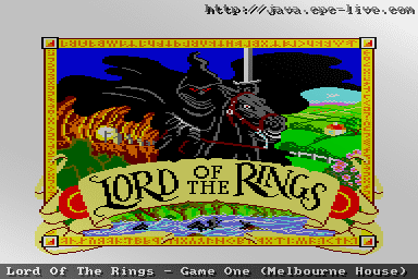 Lord of the Rings: Game One Lord Of The Rings Game One Melbourne House JavaCPC games site