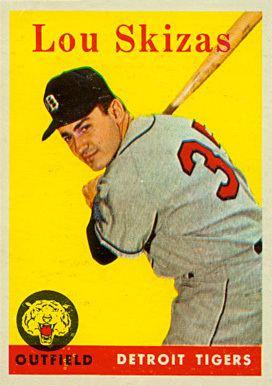 Lou Skizas 1958 Topps Lou Skizas 319 Baseball Card Value Price Guide