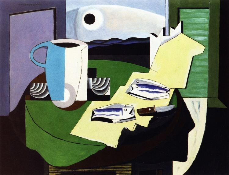 Louis Marcoussis Still LIfe with Fish Louis Marcoussis WikiArtorg