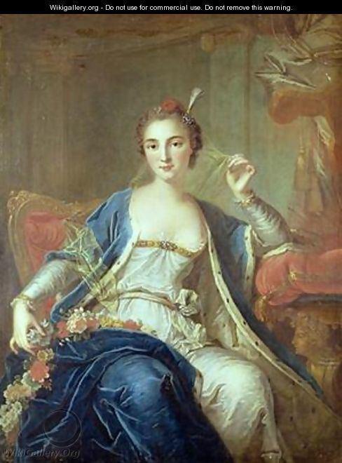 Louis-Michel van Loo Portrait of Mademoiselle Marie Salle 170256 1737 Louis