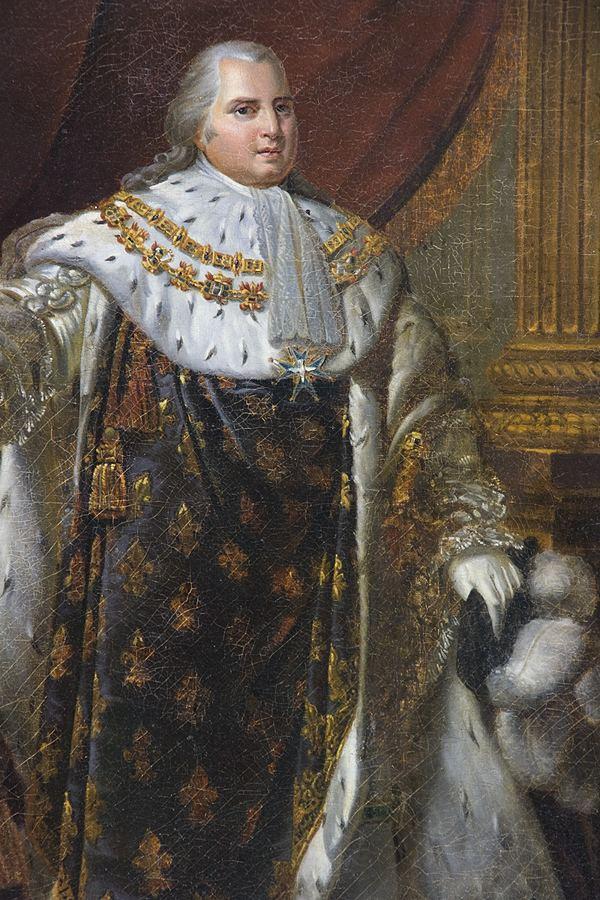 Louis XVIII of France Daniel Bibb Traveling Exhibits Coronation Portrait of