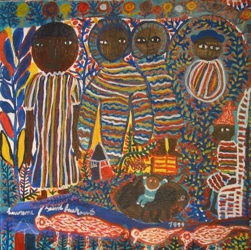 Louisiane Saint Fleurant Haitian Paintings by Louisianne St Fleurant from Galerie