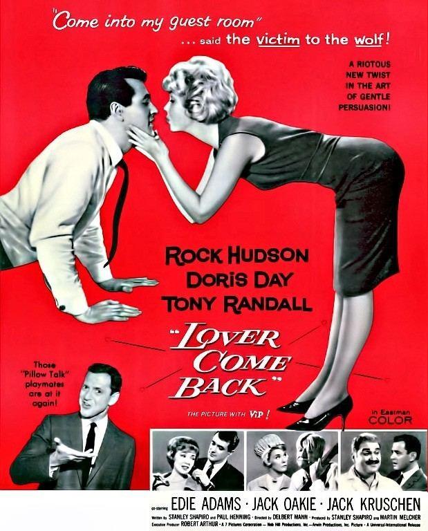 Lover Come Back (1961 film) Doris Day Rock Hudson Lover Come Back 1960 The Films of Doris Day