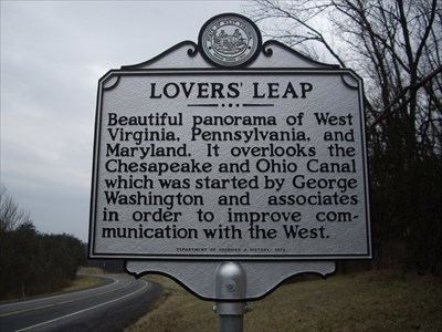 Lover's Leap Lovers39 Leap West Virginia Historical Markers on Waymarkingcom