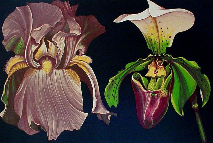 Lowell Blair Nesbitt Iris and Orchid by Lowell Blair Nesbitt Annex Galleries