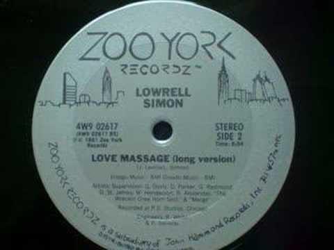 Lowrell Simon Lowrell Simon Love Massage YouTube