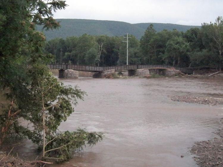 Loyalsock Creek FileLVRR Loyalsock Creek Bridge Damagejpg Wikimedia Commons