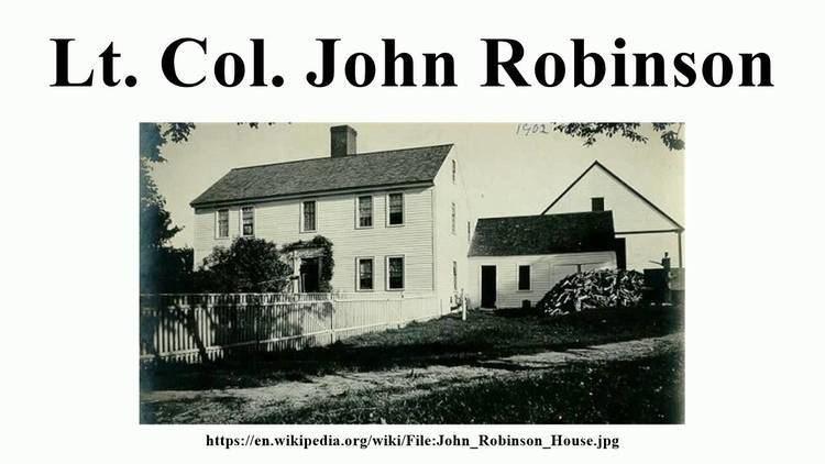 Lt. Col. John Robinson Lt Col John Robinson YouTube