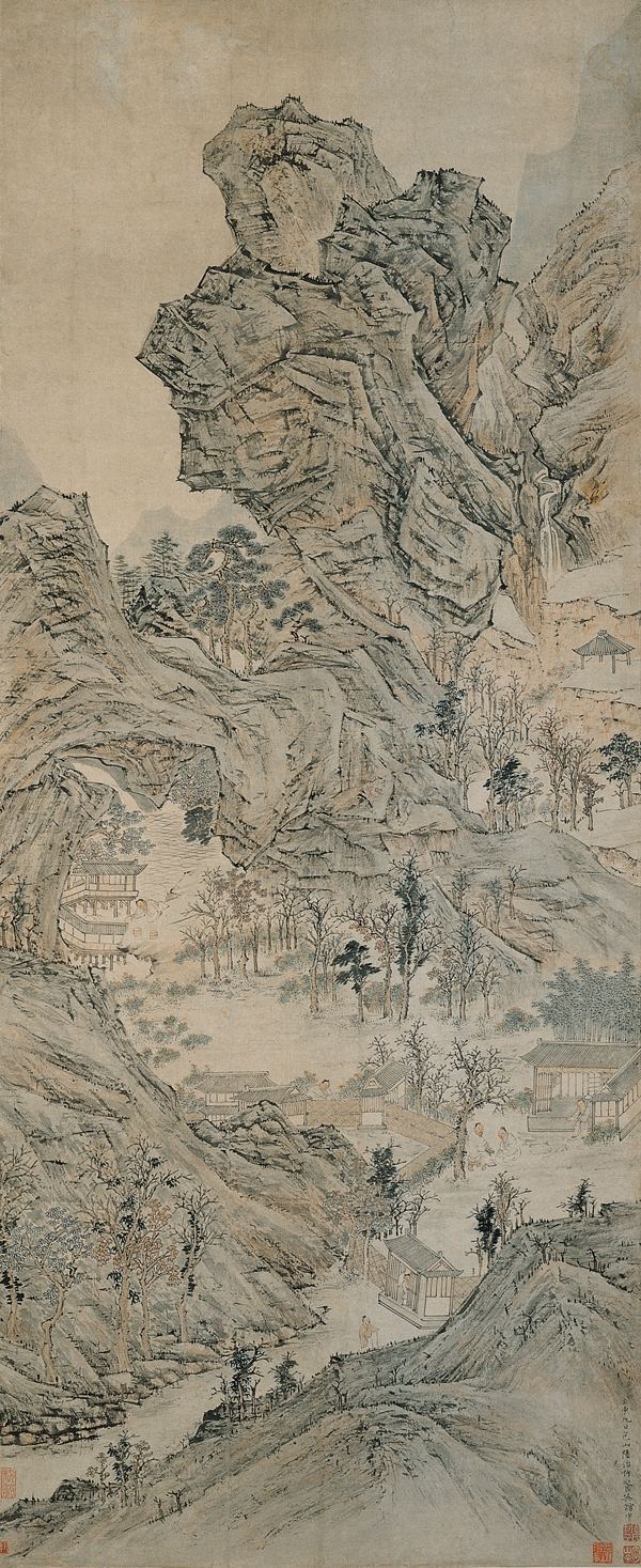 Lu Zhi (painter) FileThe Canying Hall by Lu Zhi Lu Chihjpg Wikimedia Commons