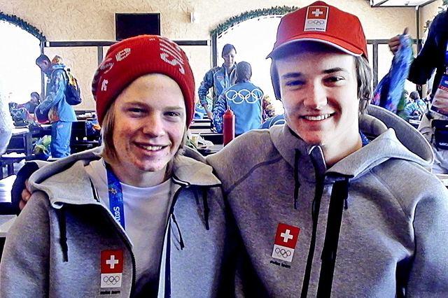 Luca Schuler Zwei lernwillige Schulbuben News Olympia 2014 Schweizer