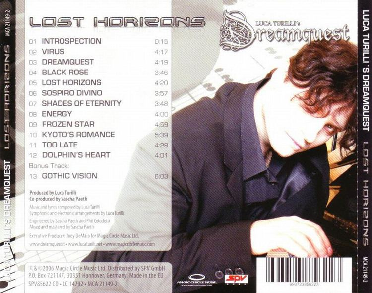 Luca Turilli's Dreamquest Cartula Trasera de Luca Turilli39s Dreamquest Lost Horizons Portada