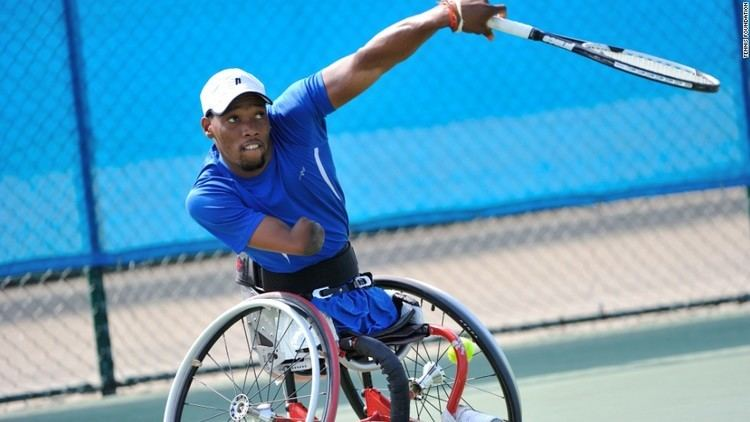 Lucas Sithole (tennis) No legs and one arm but Lucas Sithole is a 39rolling