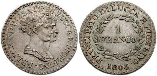 Luccan franc