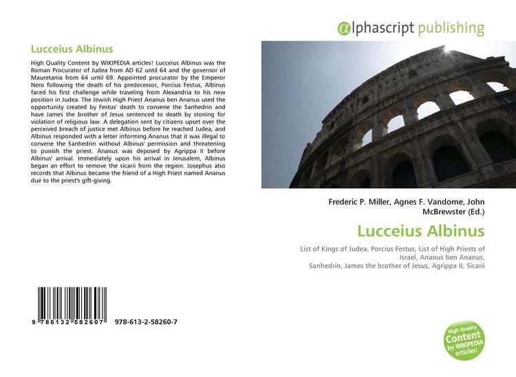 Lucceius Albinus Lucceius Albinus 9786132582607 6132582606 9786132582607