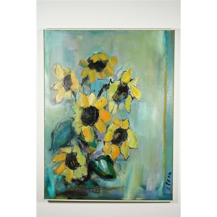 Lucia Peka Lucia Peka Latvia 19121991 Flowers Still Life Oil on Ca
