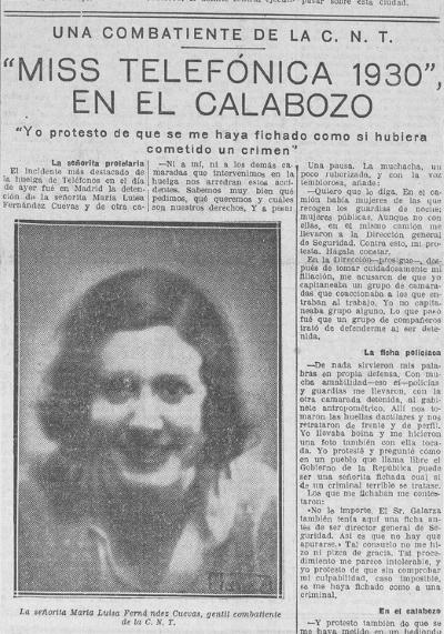 Lucia Sanchez Saornil Aquellas telefonistas de armas tomar Con historia