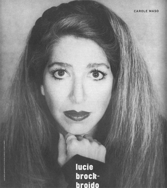 Lucie Brock-Broido BOMB Magazine Lucie BrockBroido by Carole Maso