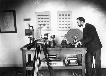 Lucien Bull Lucien Bull with his highspeed camera Paris 1904 at Science and