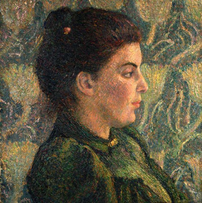 Lucien Pissarro Out on the tiles Victorian Style Oil painting