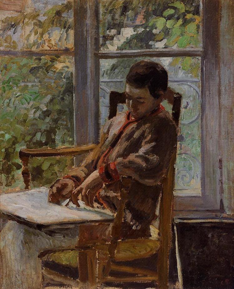 Lucien Pissarro Lucien Pissarro in an Interior Camille Pissarro