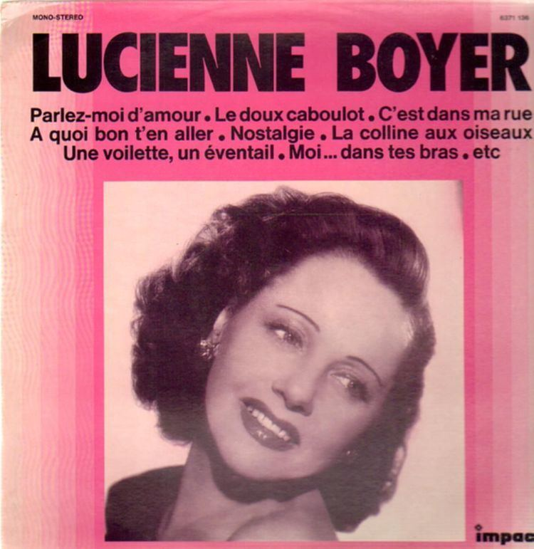 Lucienne Boyer Lucienne Boyer Records LPs Vinyl and CDs MusicStack