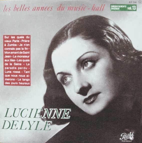 Lucienne Delyle 33 tours de 25 centimtres de diamtre galerie de