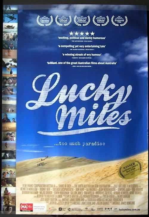 Lucky Miles LUCKY MILES Movie poster 2007 Steve Bastoni Australian Cinema One sheet