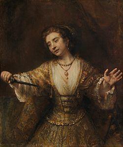 Lucretia (Rembrandt, 1664) httpsuploadwikimediaorgwikipediacommonsthu