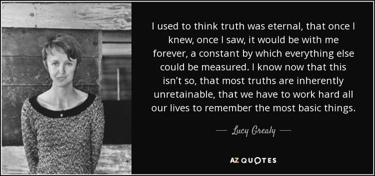 Lucy Grealy TOP 18 QUOTES BY LUCY GREALY AZ Quotes