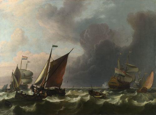 Ludolf Bakhuizen Ludolf Bakhuizen Dutch Menofwar off Enkhuizen NG204