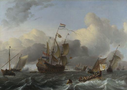 Ludolf Bakhuizen Ludolf Bakhuizen The Eendracht and a Fleet of Dutch Men