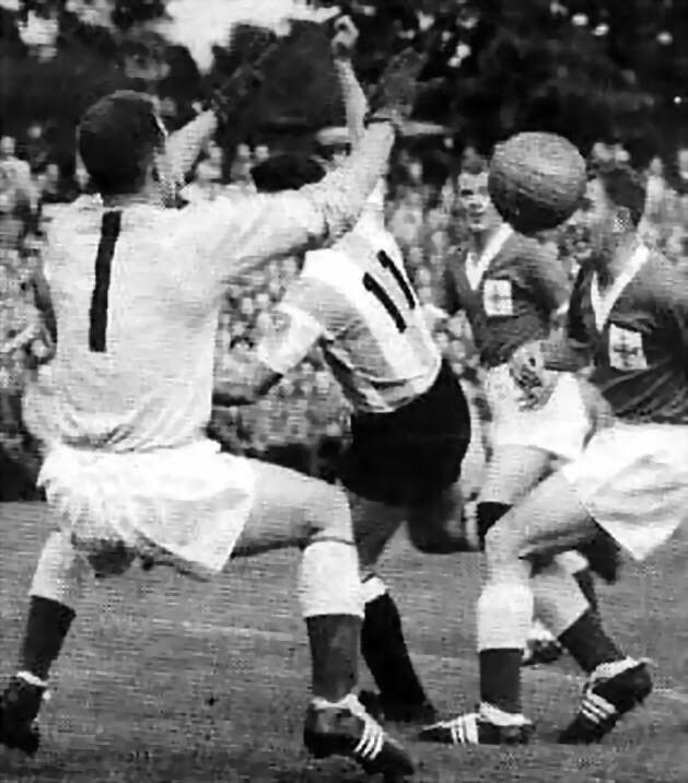 Ludovico Avio Argentina 3 N Ireland 1 in 1958 in Halmstad A Ludovico Avio shot