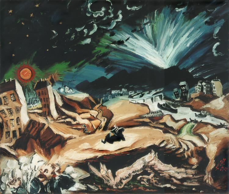Ludwig Meidner Ludwig Meidner Apocalyptic Landscape 1913 Art History