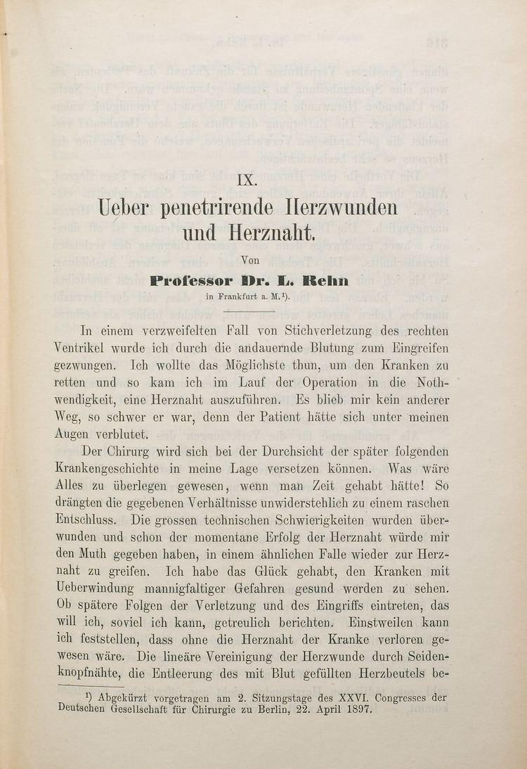 Ludwig Rehn Mitral valve Ludwig Rehn 18491930