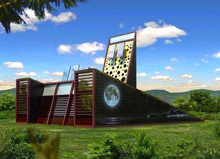 Luis de Garrido Architect Designs a Soccer BallShaped House for Famous Footballer